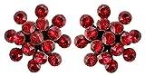 KONPLOTT Magic Fireball Mini Ohrstecker für Damen | Exklusive Designer-Ohrringe mit 32 Swarovski...