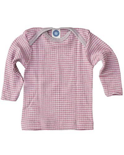 Cosilana, Baby Schlupfhemd Langarm, 45% KBA Baumwolle 35% kbT Wolle, 20% Seide (98/104, Grau/Pink/Natur)