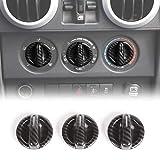 RT-TCZ Air Conditioner Switch Button Cover Trim ABS Center Control Frame for Jeep Wrangler 2007-2010 JK JKU Sport X Sahara Rubicon Carbon Fiber