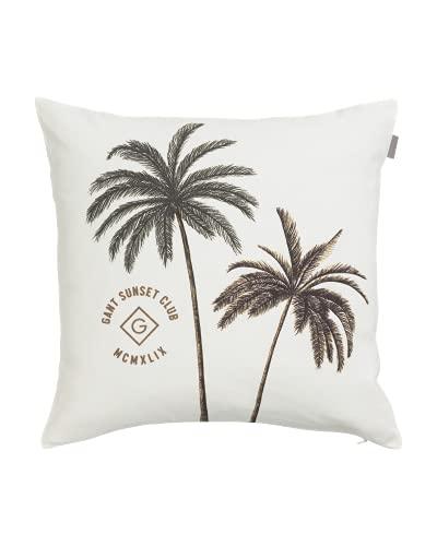 GANT Funda de cojín (50 x 50 cm), diseño de palmeras, color blanco