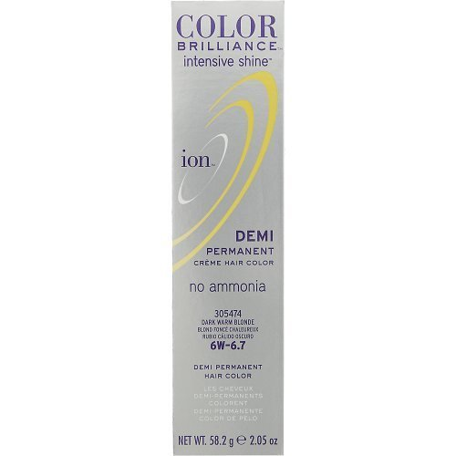 Ion Color Brilliance Intensive Shine Demi Permanent Creme 5G Light Golden Brown by ION HAIRCOLOR