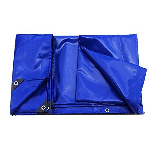 YLCJ - Lona para cubrir barcos, caravanas o piscinas de plástico resistente a la lluvia, protección solar, tira de tela, lona para coche, aparcamiento al aire libre (azul) ZQG (dimensiones: 4 mx 5 m)