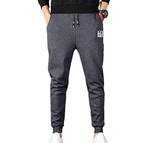 Hhckhxww Pantalones Pantalones De Salud para Hombre OtoñO E Invierno Pantalones Deportivos Informales Sueltos Pantalones De Hombre MáS Gruesos De Terciopelo MáS Gordos Pantalones De Talla Grande