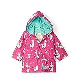 Hatley Printed Raincoat Abrigo para Lluvia, Alpacas Bonitas, 10 Years para Niñas