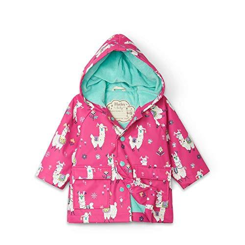 Hatley Printed Raincoat Abrigo para lluvia, Alpacas bonitas, 7 Years para Niñas