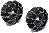 The ROP Shop | Pair of 2 Link Tire Chains & Tensioners20x10x8for Snow Blowers, Lawn & Garden Tractors, Mowers & Riders, UTV, ATV, 4-Wheelers, Utility Vehicles