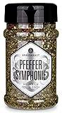 Ankerkraut, Pfeffer Symphonie, Pfeffer zum Kochen und Grillen, bunte Mischung aus schwarzem, grünem, weißem Pfeffer, Rosa Beeren und Piment, 160g im Streuer