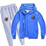 Amacigana Spider 2 pièces pour garçon, sweat-shirt, pantalon long,...