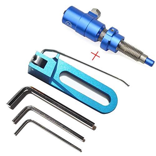 ZSHJG Recurvebogen Pfeilauflage Magnetisch Pfeilauflage Und Cushion Plunger Metallpfeilauflage Rechte Hand Bogenschießen Zubehör (Blau)