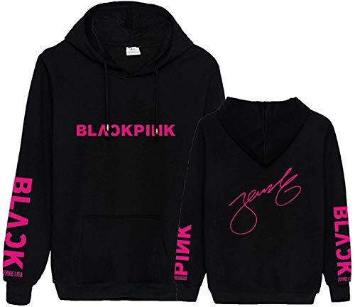 KPOP Blackpink Hoodie Jisoo Jennie Rose Lisa Black Autograph Sweatshirt Pullover Jacket