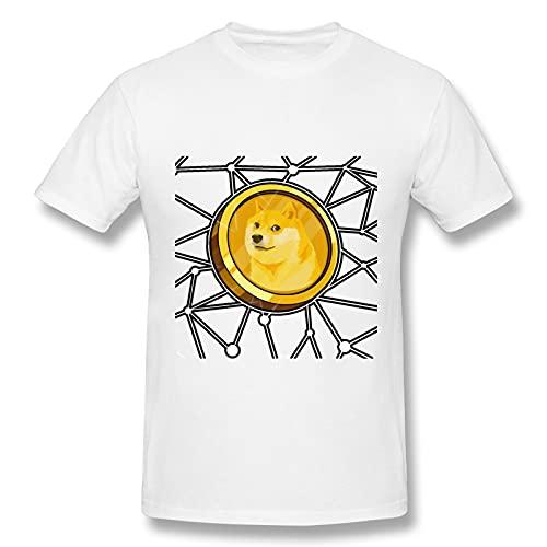 FREE Dogecoin - Camiseta de manga corta para hombre (actividad recreativa)