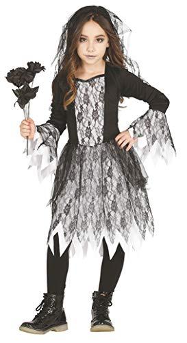 NONAME Guirca Costume Sposa cadavere Zombie Carnevale Halloween Bambina 8732_ 10-12 Anni