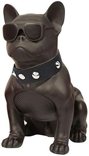 Bulldog Speaker,Portable Bulldog Speaker,French Bulldog Speaker,Gift to Friends Boy Girl Birthday Christmas, Suitable for Mobile Phones, Laptop, Tablets, TV Bluetooth Speakers,Black,M11