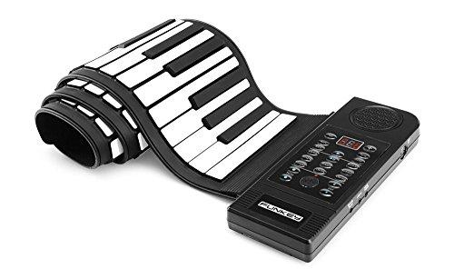Funkey RP-61M Rollpiano (61 Tasten, Aufnahmefunktion, MIDI, 128 Sounds, 128 Rhythmen, 45 Demo Songs, Betterie- und Netzbetrieb möglich, inkl. Netzteil) Schwarz