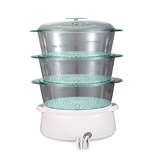Best Buy! HIZLJJ Electric Food Steamer Vegetable Steamer with BPA Free 3 Tier Stackable Baskets Household Electric Steamer