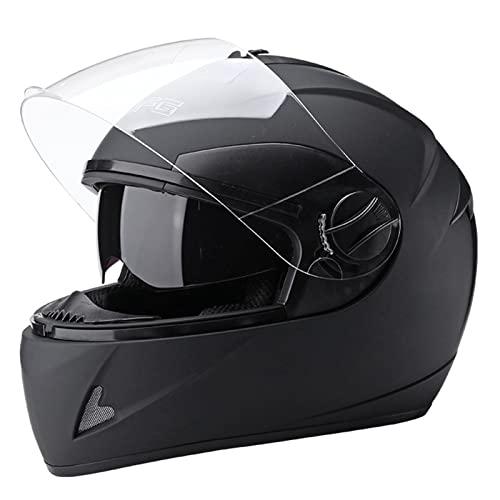 ZGC Integralhelm Motorrad,Motorrad-Klapphelm,stoßfester Motorradhelm,Integralhelm Herren Damen Roller-Helm für Fahrrad Skateboard Die Größe des Kopfumfangs ist Nicht einstellbar geeignet für 54-60cm