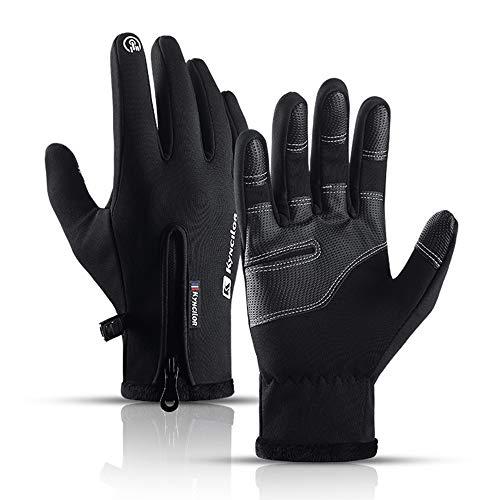 Podanic Herren Ski warme Handschuhe, Wind- und wasserdichte Sport Handschuhe, rutschfest MTB-Handschuhe, Touchscreen-Funktion Fahrradhandschuhe, Winterhandschuhe für Herren&Damen
