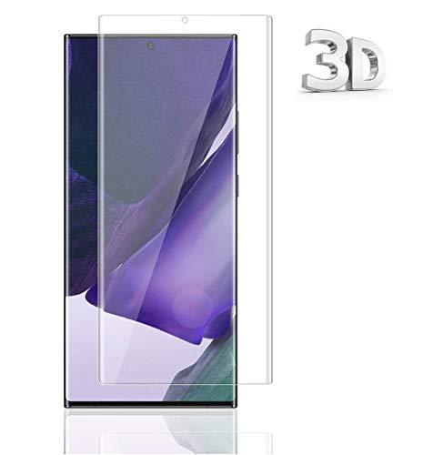 For Galaxy Note20 Ultra ガラスフィルム ギャラクシー Note20 Ultra フィルム 専用 3D曲面 視力保護 強化ガラスフィルム ブルーライトカット機能 目に優しい 改良型 全面保護 貼り付け簡単 気泡ゼロ 旭硝子 硬度9H