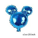 Mickey Minnie Mouse Foil Ballons 112cm Bande Dessinée BalonsFêteD'Anniversaire Décoration Enfants Bébé Douche Fête Jouets Balons Balle Globos - Bleu Miki