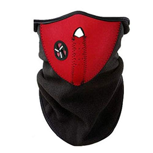 HaiQianXin Radfahren halbe Gesichtsmaske Outdoor Sports winddicht staubdicht Gesichtsschutz für Jagd Klettern Motorrad Radfahren (Color : Red)