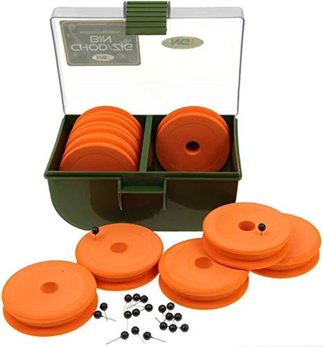 Karpfenangeln Ausrüstung Chod / Zig Bin mit 10 EVA Spulmaschinen für Rigg Haken Lang längen NGT