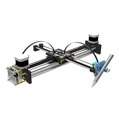 Robot House A3 Working Area Metal Drawing Robot Kit Writer XY Plotter iDraw Hand Writing Robot Kit Based on 3D Printer Corexy or Hbot Structure Support Laser Engraving