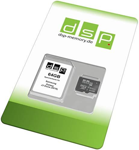 DSP Memory 64GB Speicherkarte (Class 10) für Samsung Galaxy J3 Duos (2016)