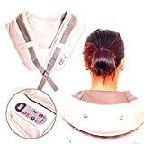 Almohadilla eléctrica Masaje de Cervical/Espalda/Hombros Masajeador Eléctrico con Calor Rotación Función de Calor para Relajación Aliviar Tensión y Dolores Musculares