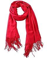 Angelikashalala Winter Warm Scarf Super Soft Pashmina Shawl and Wraps for Women (Burgundy)