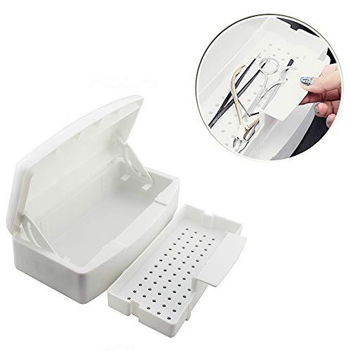 Pinkiou Nail Tools Sterilizzatore Vassoio Disinfezione Manicure Scatola di plastica per unghie Strumenti per capelli Set manicure