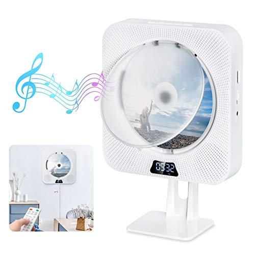 Gueray Portátil Bluetooth Reproductor de CD con Cubierta Antipolvo Control Remoto Radio...