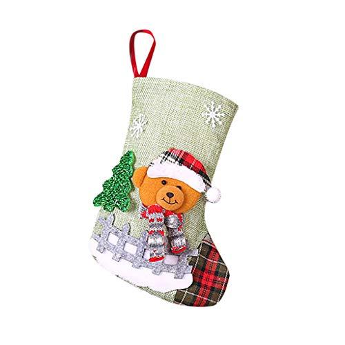 KPILP Weihnachtsstrumpf Nikolausstrumpf Hängende Strümpfe für Weihnachtsdeko zum Aufhängen und Befüllen Deko für Zuhause, Kaminsims, Weihnachten Partyzubehör