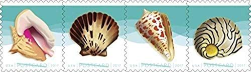 USPS Seashells Postcard Stamps, Roll of 100