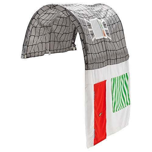 KURA Bed Tent with Curtain Grey White