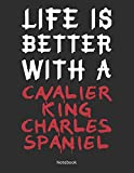 Life is Better With A Cavalier King Charles Spaniel Notebook: Lined Notebook / Journal Gift, 120 Pages, 8.5x11, Soft Cover, Matte Finish