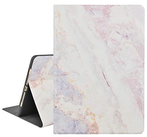 KECC Case for iPad Mini 5th Gen. (2019) / iPad Mini 4th Gen. (2015) Smart Protective Cover Multiple Viewing Angles + Auto Sleep/Wake Function (White Marble 2)