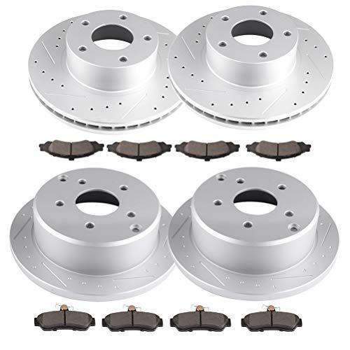 cciyu Premium Discs Rotors Pastillas de freno de cerámica para Pontiac GTO 2004