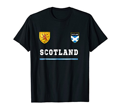 Scotland T-shirt Sports/Soccer Jersey Tee Flag Football