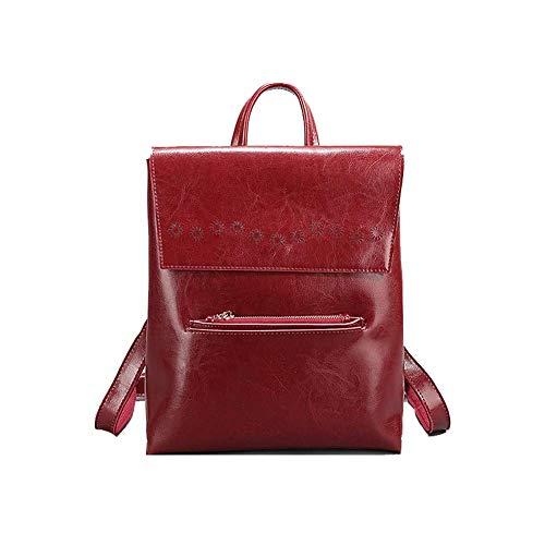 Mochila para mujer, bolso para la madre, mochila, bolso multifuncional de cuero de gran capacidad, adecuado para viajes de compras-red