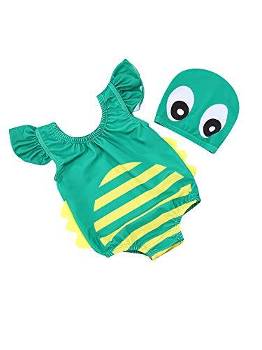 Toddler Girl Baby Boy - Disfraces de baño de una pieza para la playa para niños con cuello re...