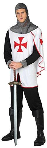 Atosa-39354 Disfraz Caballero Cruzadas, Color Blanco, XL (39354)