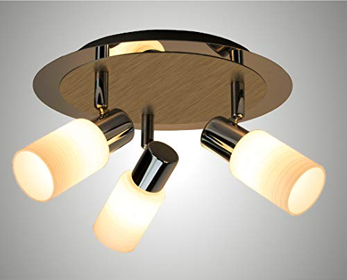 Briloner Leuchten lampa punktowa LED, lampa sufitowa, reflektor sufitowy, 1 x G9 3 W, 330 lm, w zestawie przełącznik kołyskowy, reflektor obrotowy i wychylny, chrom / aluminium 2864-018