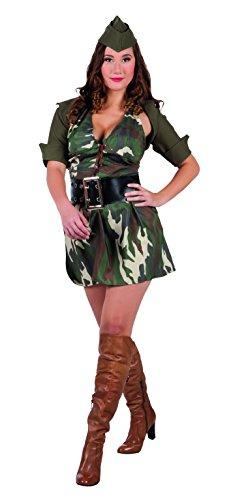 Boland-BOL83586 Soldado Señora Disfraz Militar Mujer, Color marrón Verde, S (36/38) (Ciao SRL BOL83586)