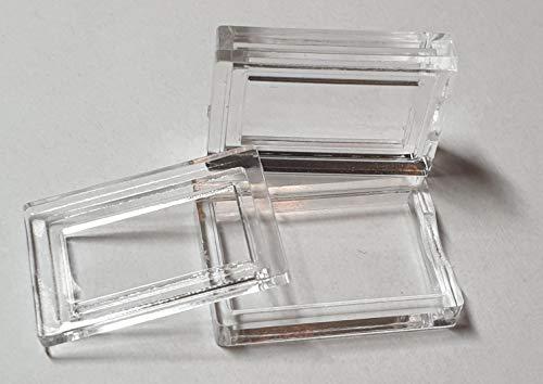 Kapseln für 1g Barren aus Gold & Silber (10 Stück) rechteckige Münzkapsel Dose für alle gängigen Goldbarren Silberbarren Gramm