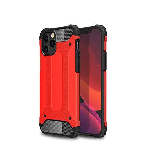 TiHen Hülle für Xiaomi Mi 5C Hülle, Premium [Armor Serie] Outdoor Stoßfest Handyhülle Xiaomi Mi 5C, 360 Grad Full Cover Hülle Xiaomi Mi 5C Doppelschichter Schutz Hülle + Panzerglas 2 Stück - Rot