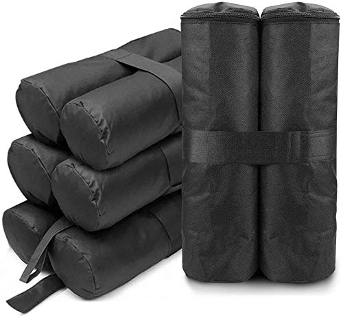 dibikou 4 Pack Gazebo Weights Bag,Gazebo Sand Weights Leg for Pop up Canopy Tent Sun Shades, Umbrella, Anchoring Gazebos, Trampolines(Sand Not Included)