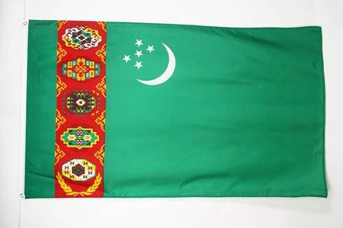 AZ FLAG Flagge Turkmenistan 90x60cm - TURKMENISCHE Fahne 60 x 90 cm - flaggen Top Qualität