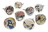 knoa - Tiradores de cerámica para muebles y cajones de estilo shabby chic, flores y...
