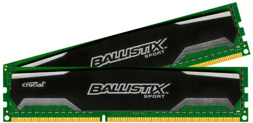 Crucial Ballistix Sport 4GB kit (2GBx2) DDR3-1333 1.5V 240-Pin UDIMM BLS2CP2G3D1339DS1S00