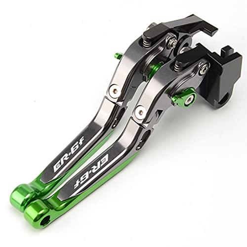 YANnew Palancas de Freno Motocycle Frenos Partes Bike Brake Embrague Palancas para ER6N para ER6F 2006-2008 Palanca de Embrague de Freno (Color : Green, Size : ER6F)